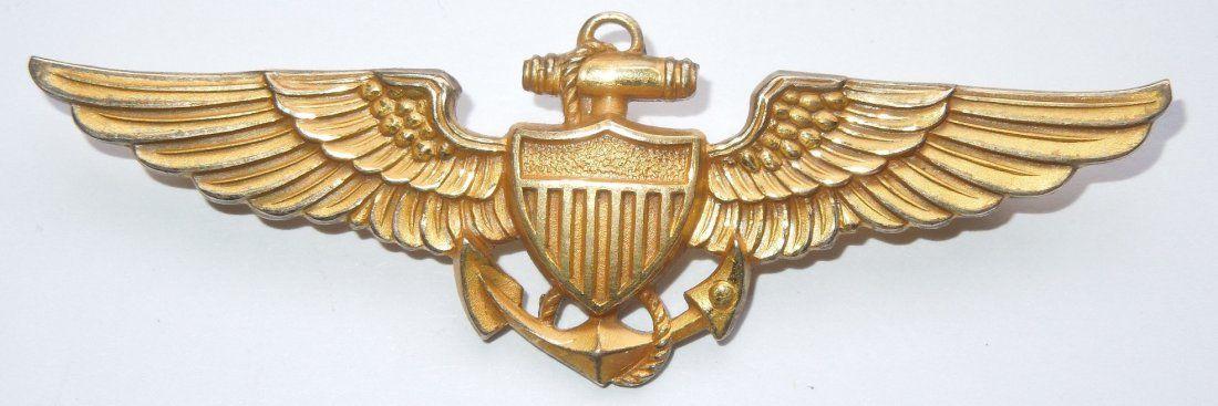 WWII US Navy Aviator Pilot Wings Balfour 1/20th 10K