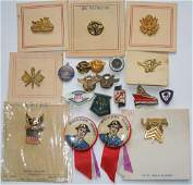 WWII US Military Lapel & Sweetheart Home Front Pins Lot