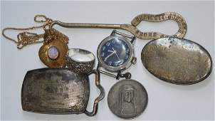 Lot of Misc Jewelry buckles Religious Medal