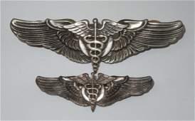 WWII USAAF Flight Surgeon Wings Lot