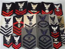 WWII50s Era US Navy Rate Patch Sleeve Insignia Lot