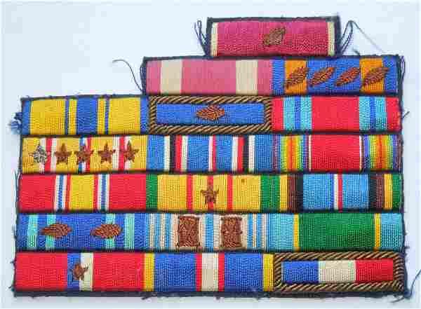 WWII - Vietnam War USAF Custom Embroidered Ribbon Bar