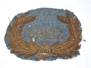 1800s US Military or Police Chief Bullion Hat Badge