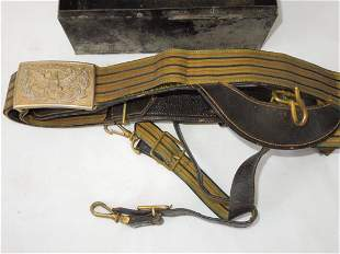 1900s US Army General Officer Dress Sword Belt in Box