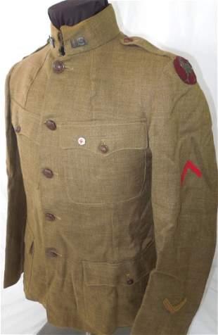 WWI US Ambulance Corps Bullion Uniform Red Cross