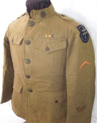 WWI 79th Infantry Div. US Army Bullion Patched Uniform