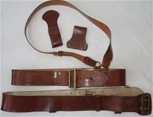 1930s US Army Officer Leather Uniform Garrison Belt Lot