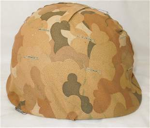 Vietnam War US Military M-1 Helmet, Liner, & Camo Cover