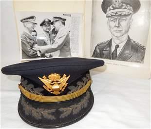 General Jonathan Wainwright Dress Blue Visor Cap