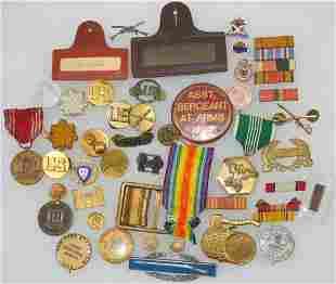 WWI - Vietnam Pins Medals Insignia Lot