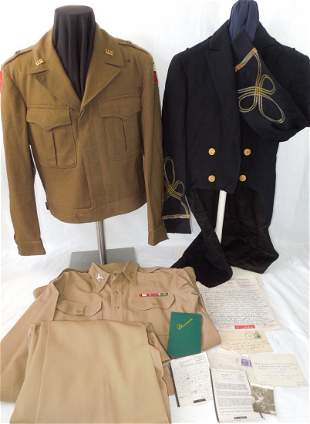 WWII General George Smith Uniform & Paper Lot 15th Army