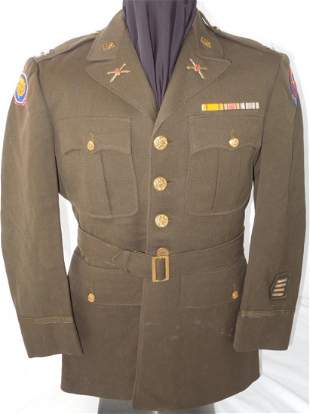 WWII US Army 106th Infantry Div. Captain Uniform