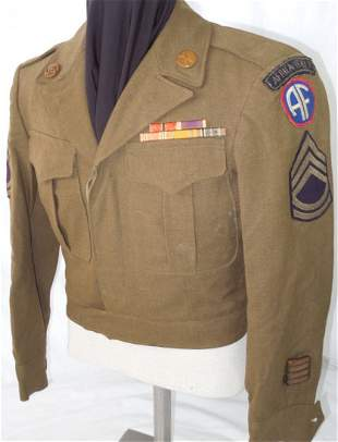 WWII US Army Africa Italy Bullion Infantry Uniform