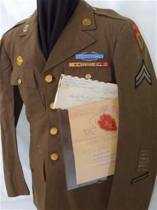 WWII US Army Hawaiian Division Named Uniform CIB