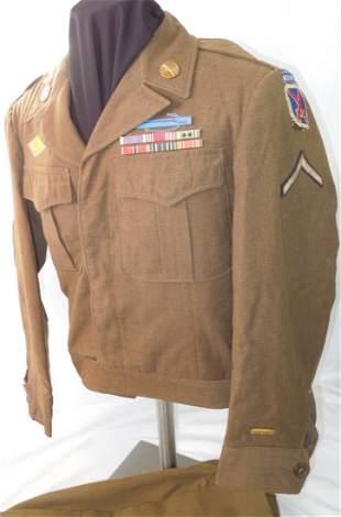 WWII US Army 10th Mountain Div. Uniform CIB Purple