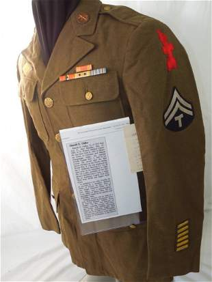 WWII US Army 32nd Infantry Div. Named Uniform 120th FA
