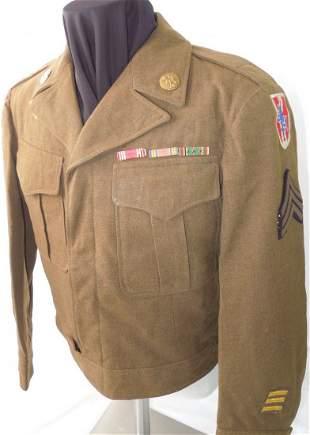 WWII US Army 83rd Infantry Div. Austria Named Uniform