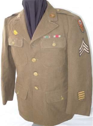 WWII US Army European Theater Quartermaster Sgt Uniform