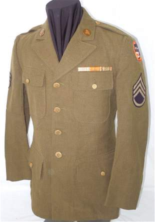 WWII US Army 66th Infantry Div. Medical Uniform Jacket