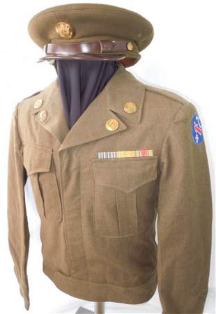Post WWII US Army Pacific Quartermaster Uniform & Cap