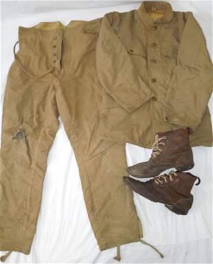 WWII Japanese Army Winter Uniform & Hobnail Boots Attu