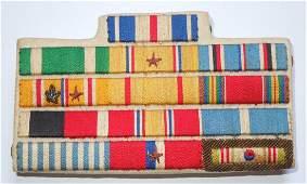 WWII Korean War US Navy Officer Silver Star Ribbon Bar