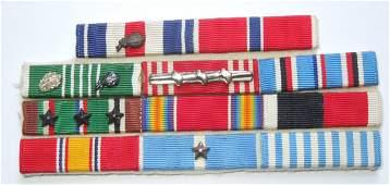 WWII - Korean War 2x Silver Star Custom Ribbon Bar