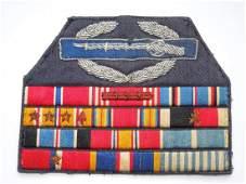 WWII - Korean War USAF CIB Bullion Custom Ribbon Bar