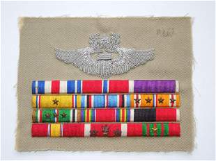 WWII Philippine Defense Bullion Command Pilot Ribbons
