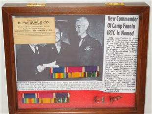 WWII 34th & 45th Inf. General Butler Ribbon Bars Lot