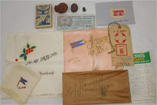WWII USAAF Iceland Base Command Souvenirs in Box