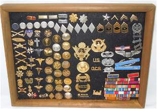 WWII - Vietnam US Army Branch Insignia Badges Ribbons