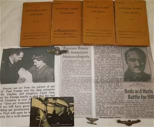 USMC AAF WWII Colonel Russian Shuttle Wings Log Books