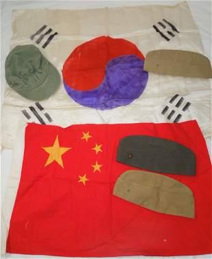 Korean War USMC Named China Flag Cap Group