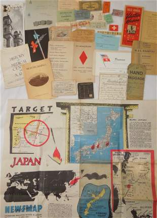 US Army 5th ID WWII Paper Ephemera Documents Lot