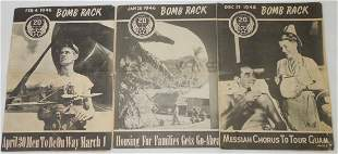 WWII US 20th Air Force Bomb Rack Newspaper Magazines