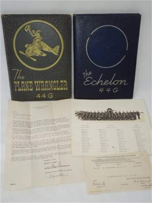 WWII USAAF Pilot Wrangler Echelon Yearbook Document Lot