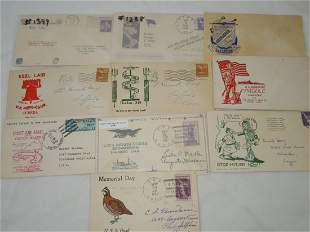 (10) WWII Era First Day & Postal Covers FDC Lot Hitler