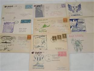 (10) WWII Era First Day & Postal Covers FDC Hitler Sub