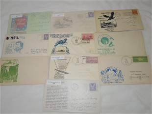 (10) WWII Era First Day & Postal Covers (FDC) Bataan