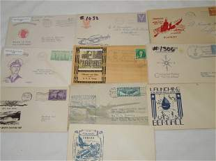 (10) WWII Era First Day & Postal Covers (FDC) MacArthur