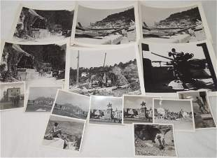 Lot of WWII Italy Ruins German AA Guns Photos Trieste