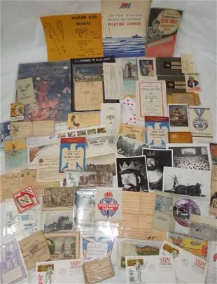 Military Booklets PC Photos Home Front Ephemera Lot