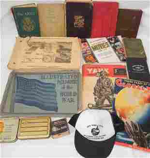 WWI WWII Books, Scrapbook Home Front Plus Lot