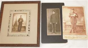 1800s US Soldier Photos Cabinet Cards 3rd Ohio Vol. Inf