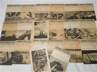 WWII German Wehrmacht Adler Kalendar 1944 Lot #2