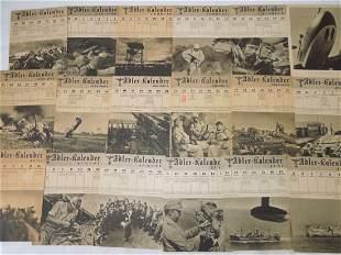 WWII German Wehrmacht Adler Kalendar 1944 Lot #1
