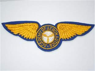 1930s - WWII US Academy of Aeronautics Wings Patch
