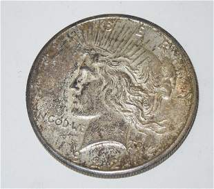 1922 US Peace Silver Dollar Coin