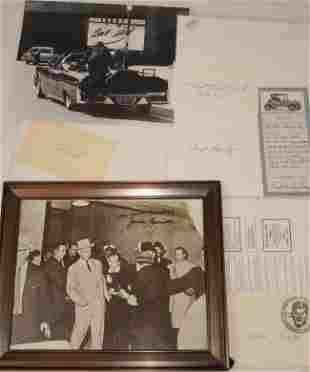 JFK Assassination Related Aurograph Lot Clint Hill